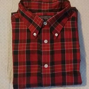 Roundtree Yorke Easy Care Red Plaid Shirt.